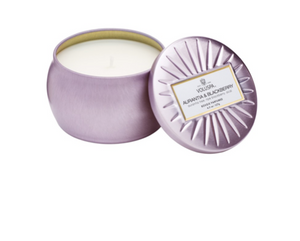 Voluspa Petite Decorative Tin Candle - Aurantia & Blackberry