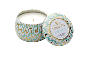 Voluspa Petite Decorative Tin Candle - Laguna