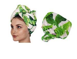 Kitsch Fast Drying Microfiber Hair Towel - Palm Leaves (+$5)