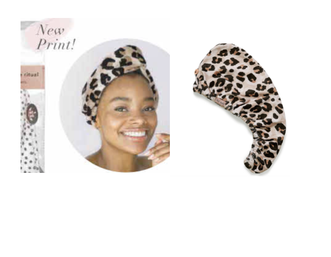 Kitsch Fast Drying Microfiber Hair Towel - Leopard