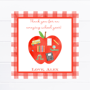 Personalized Instant Download - Teacher Appreciation & Teacher Thank You Gift Tag or Sticker | End of School Year Gift Tag or Sticker