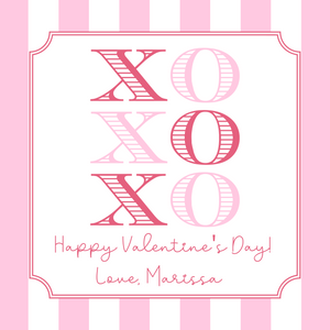 Digital Download - Valentine's Day Sticker or Gift Tag - 3x3 - XOXO