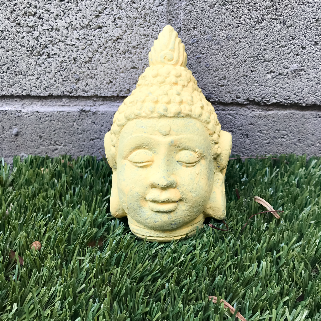 Small Yellow Buddha Head Statue