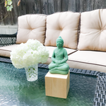 Sea Green Buddha Meditation Statue