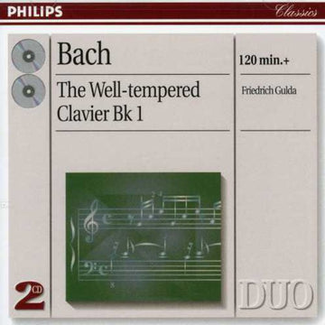 BACH / GULDA - WELL-TEMPERED CLAVIER BOOK 1 - CD New