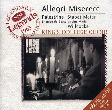 ALLEGRI / PALESTRINA / WILLCOCKS / KCC - MISERERE / STABAT MATER (CD)