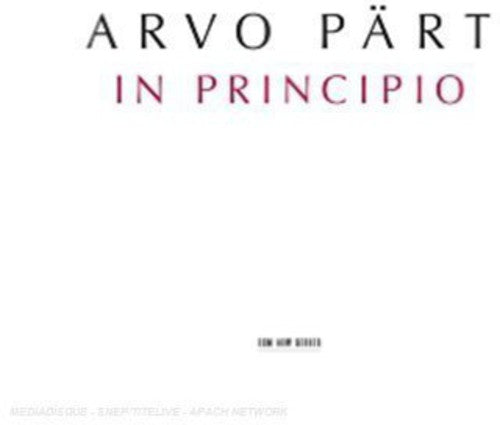 ARVO PART - IN PRINCIPIO - CD New