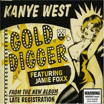 KANYE WEST - GOLD DIGGER - CD Used Single