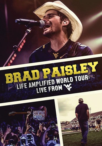 BRAD PAISLEY - LIFE AMPLIFIED WORLD TOUR: LIVE FROM WVU - Video DVD