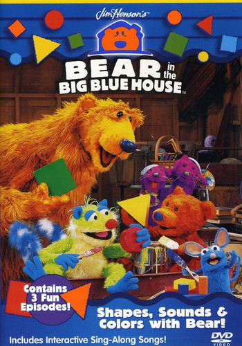 BEAR IN THE BIG BLUE HOUSE - SHAPES SOUNDS & COLORS (DVD)