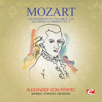 MOZART - DIVERTIMENTO IN F MAJOR K. 138 SALZBURG - CD New Single