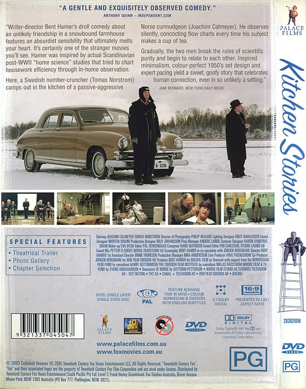 MOVIE DVD - KITCHEN STORIES  [EX RENTAL] (2003 Norwegian comedy drama movie) VERY RARE - Video X Rental DVD