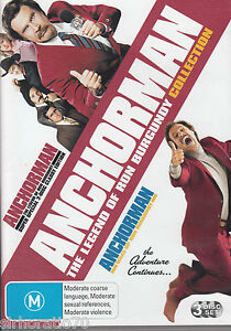 WILL FERRELL - ANCHORMAN: THE LEGEND OF RON BURGUNDY COLLECTION - Video Used DVD