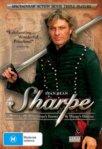 SEAN BEAN - SHARPE - THREE PACK (WITH SHARPE'S COMPANY / SHARPE'S ENEMY / SHARPE'S HONOUR - Video Used DVD