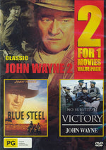 JOHN WAYNE - JOHN WAYNE CLASSICS - BLUE STEEL - NO SUBSTITUE FOR VICTORY