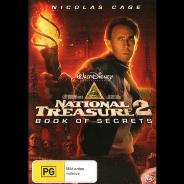 NICOLAS CAGE - NATIONAL TREASURE 2: BOOK OF SECRETS [EX RENTAL] - Video X Rental DVD