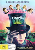 MOVIE DVD - CHARLIE AND THE CHOCOLATE FACTORY  2 DISC EDITION [EX RENTAL]