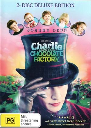 MOVIE DVD - CHARLIE AND THE CHOCOLATE FACTORY  2 DISC EDITION [EX RENTAL] - Video X Rental DVD