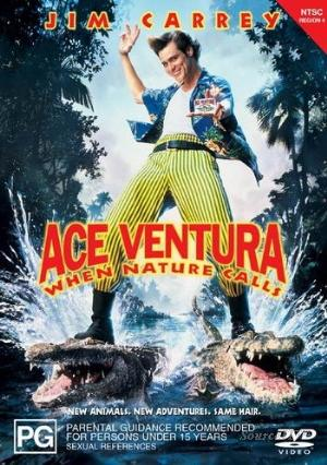 JIM CARREY - ACE VENTURA - WHEN NATURE CALLS - Video Used BluRay