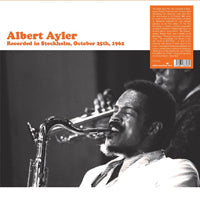ALBERT AYLER - RECORDED IN STOCKHOLM, OCTOBER 25TH, 196 - Vinyl New