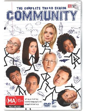 JOEL MCHALE - COMMUNITY - COMPLETE SEASON 3 - Video Used DVD