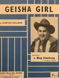 REG LINDSAY - GEISHA GIRL SHEET MUSIC - Sheet Music PreLoved Music Sco