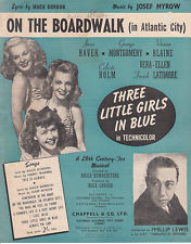 THREE LITTLE GIRLS IN BLUE - ON THE BOARDWALK (IN ATLANTIC CITY)  GOR