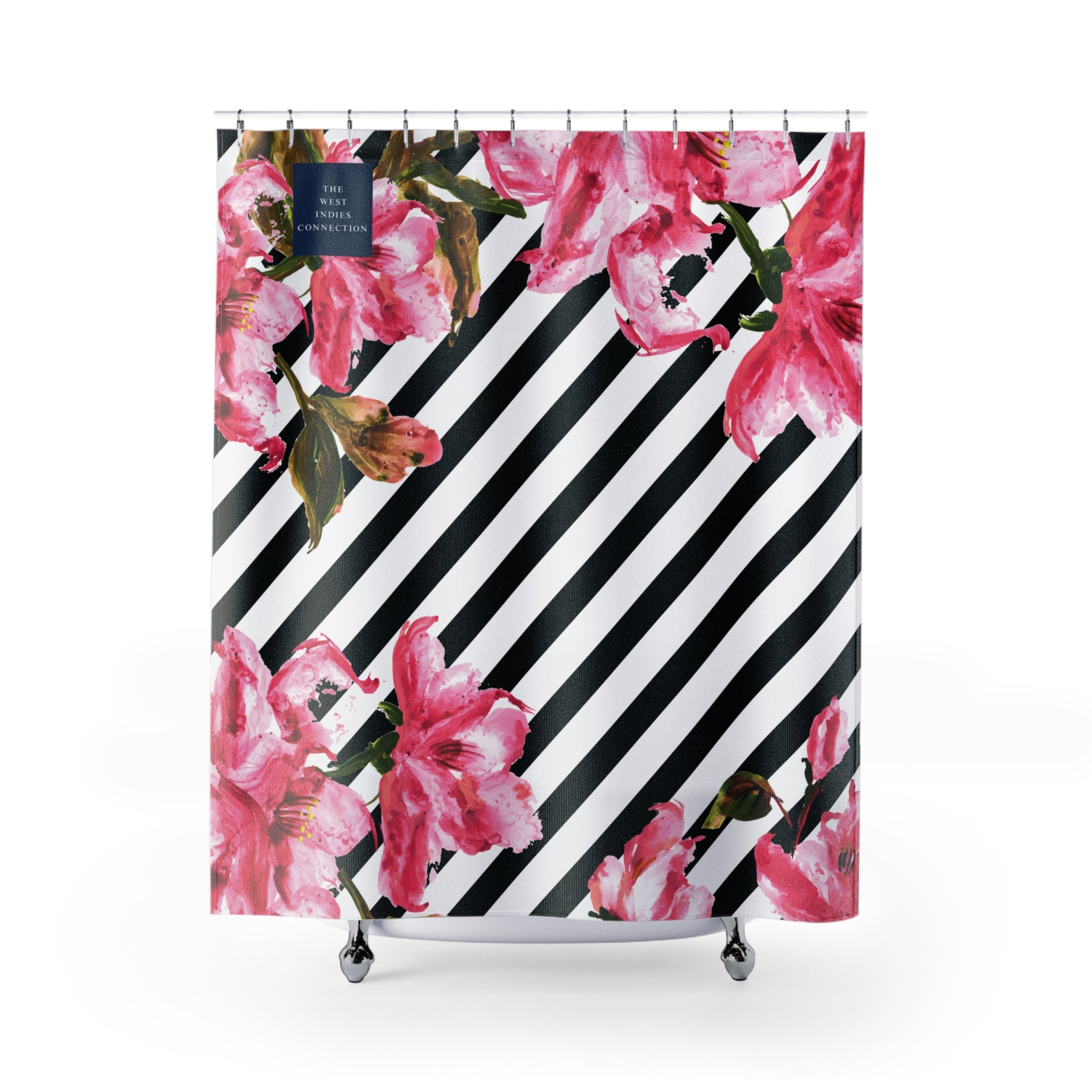 Amor - The West Indies Connection - Affordable Tropical Inspired Shower Curtains