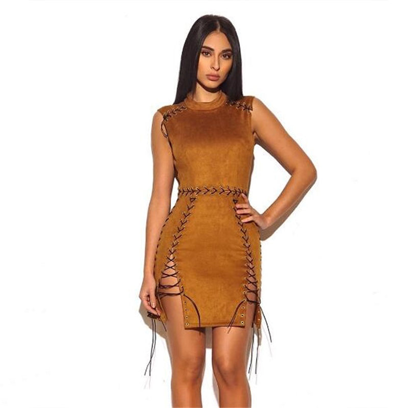 Halter split Bandage Dress