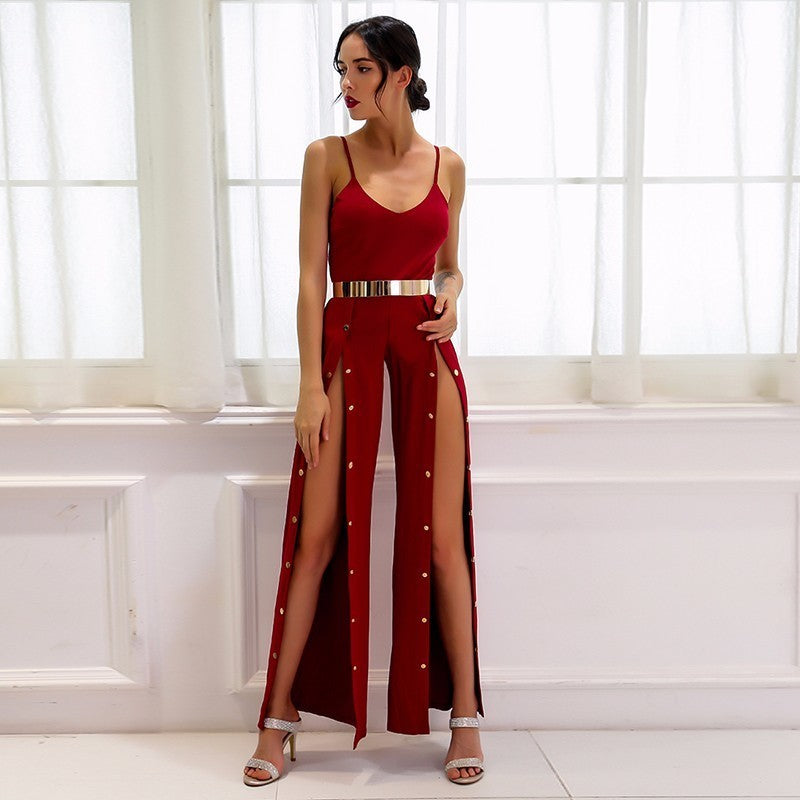 Party Girl Side Split Jumpsuit