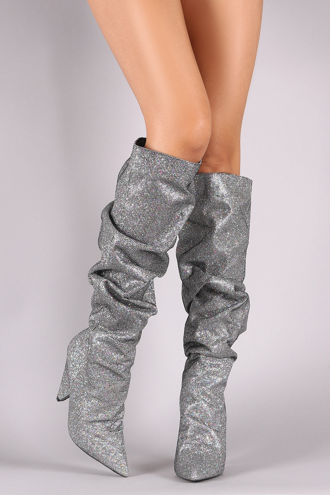 Slouchy Glitter Boots