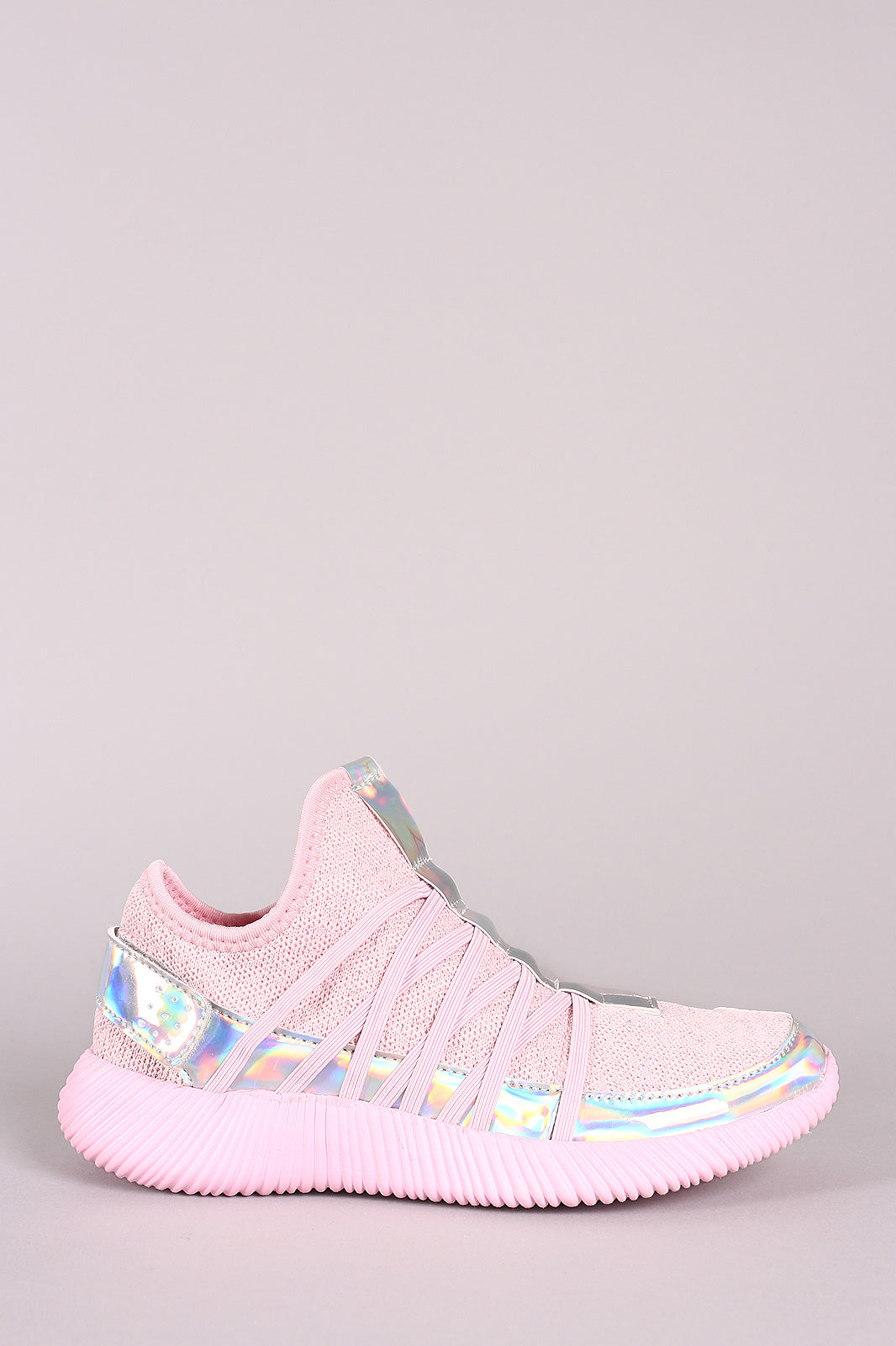 Holographic Slip-On Rigged Sneaker