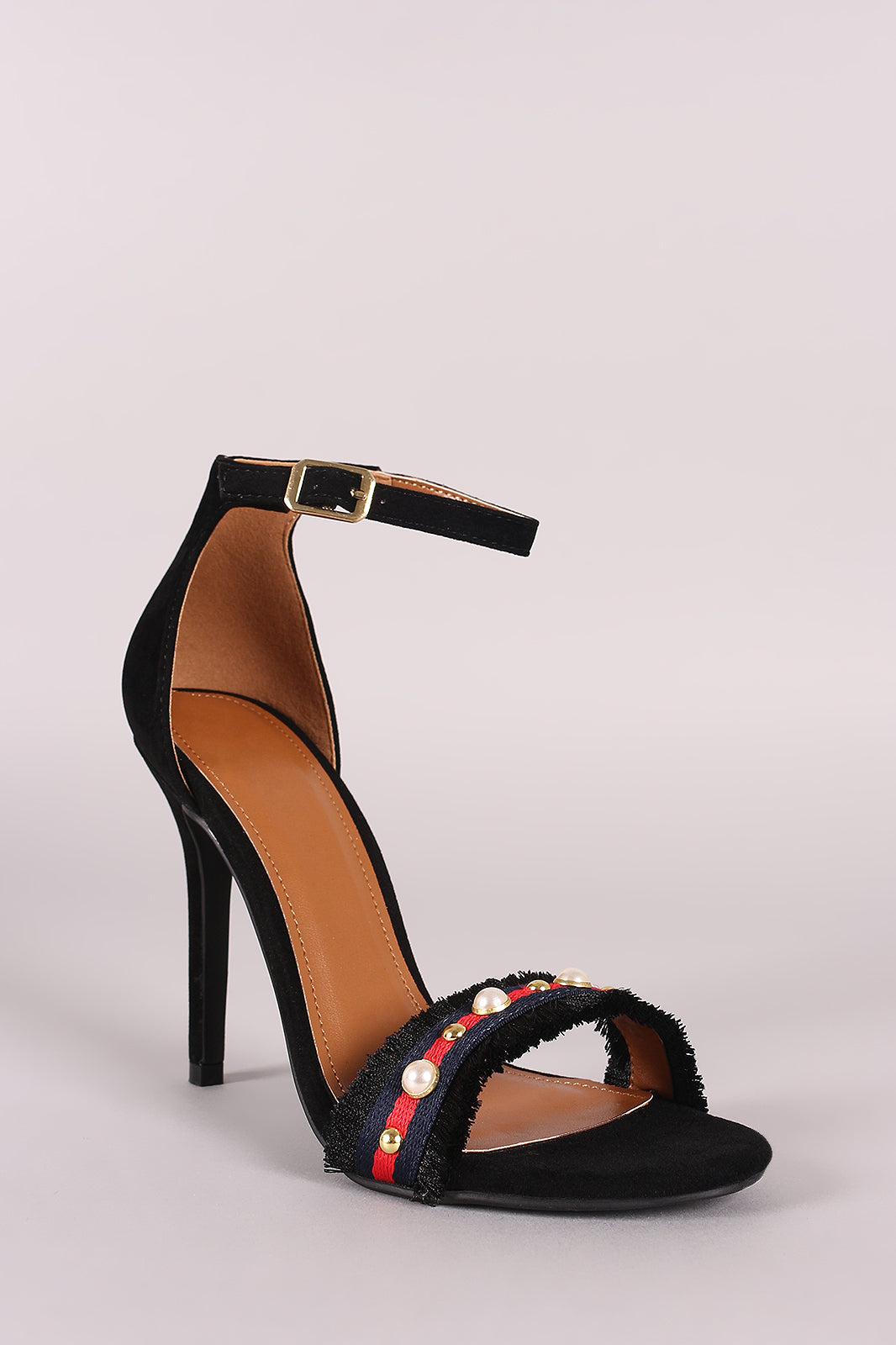 Pearl Ankle Strap Stiletto