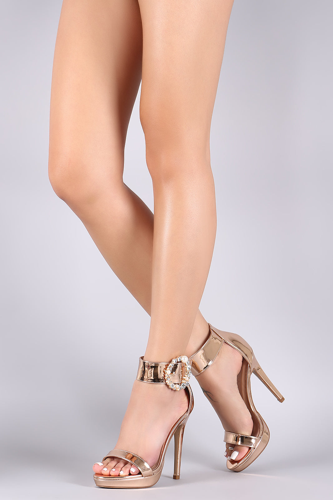 Jewels Embellished Stiletto Heel