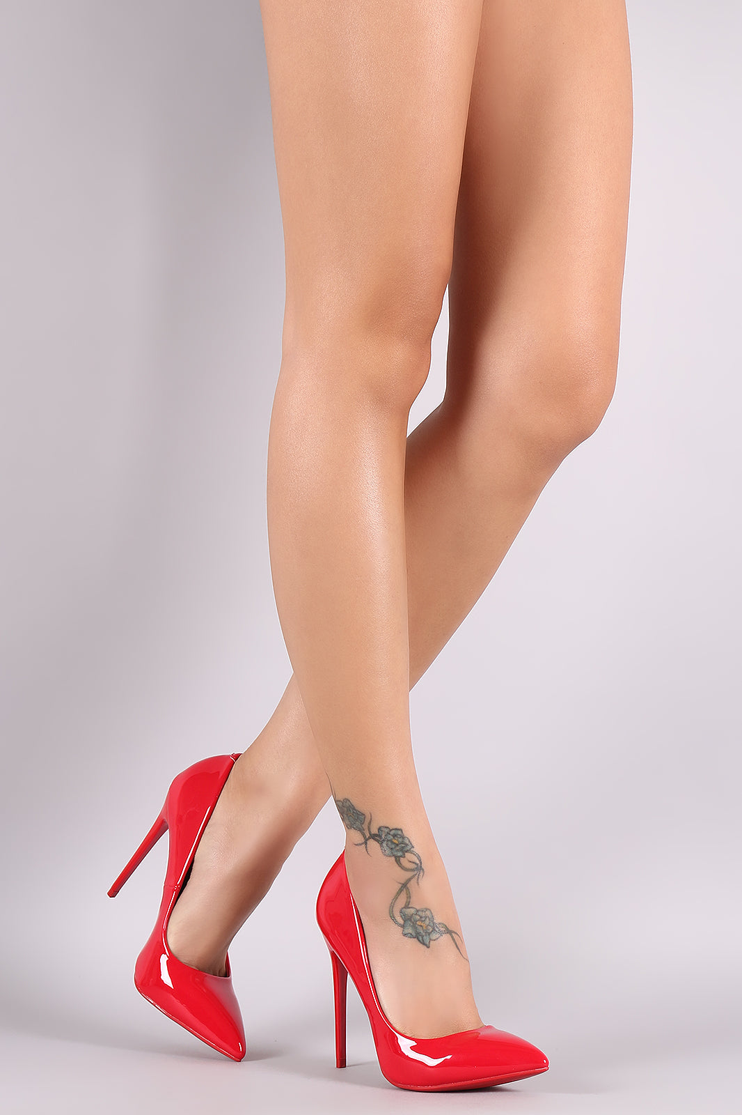Patent Pointy Stiletto Pump