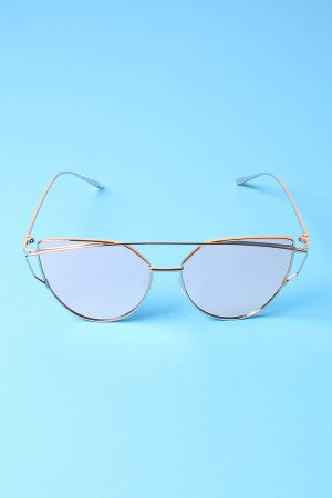 Wired Cateye Aviator Sunglasses
