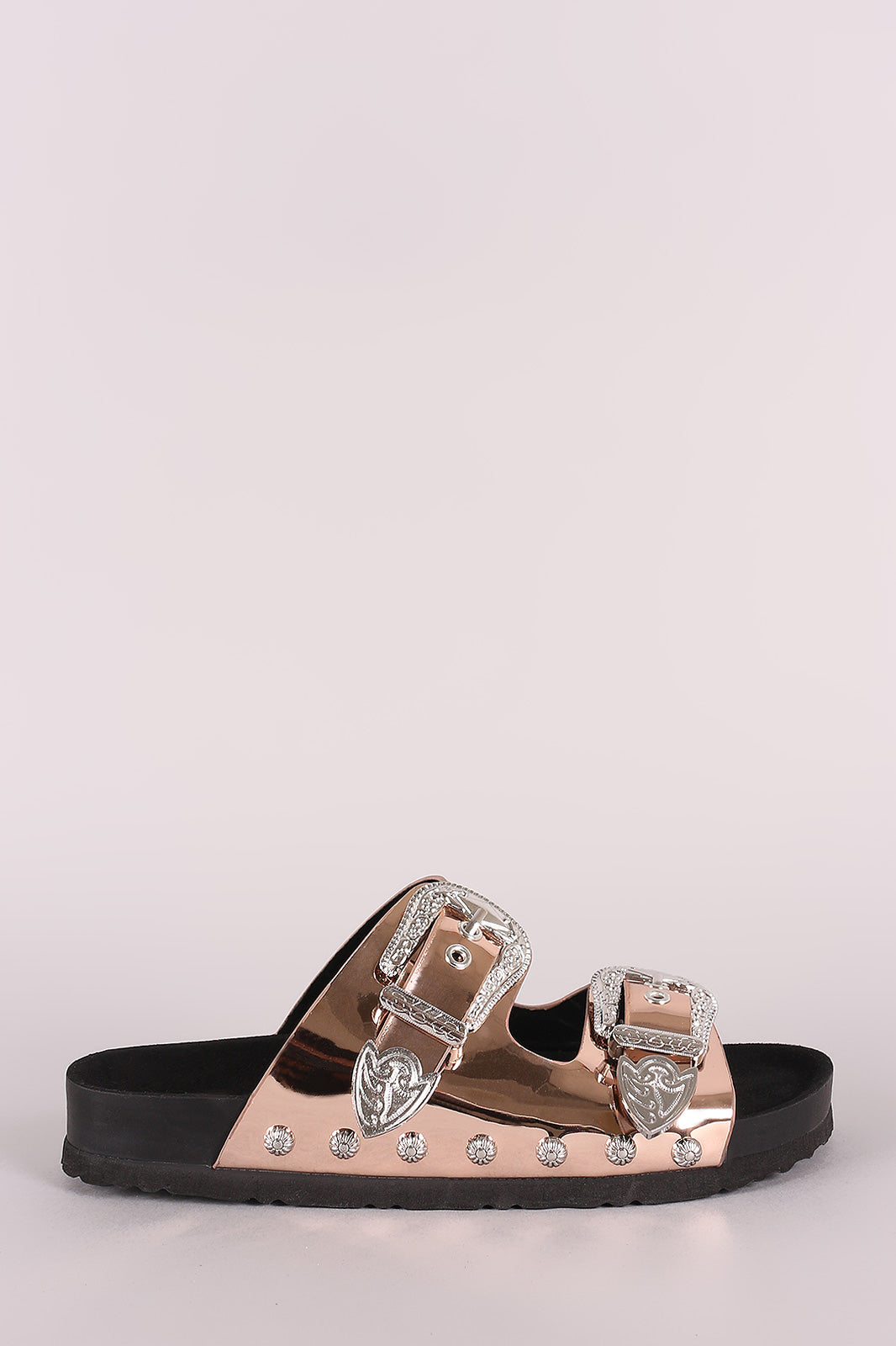 Studded Double Band Sandal