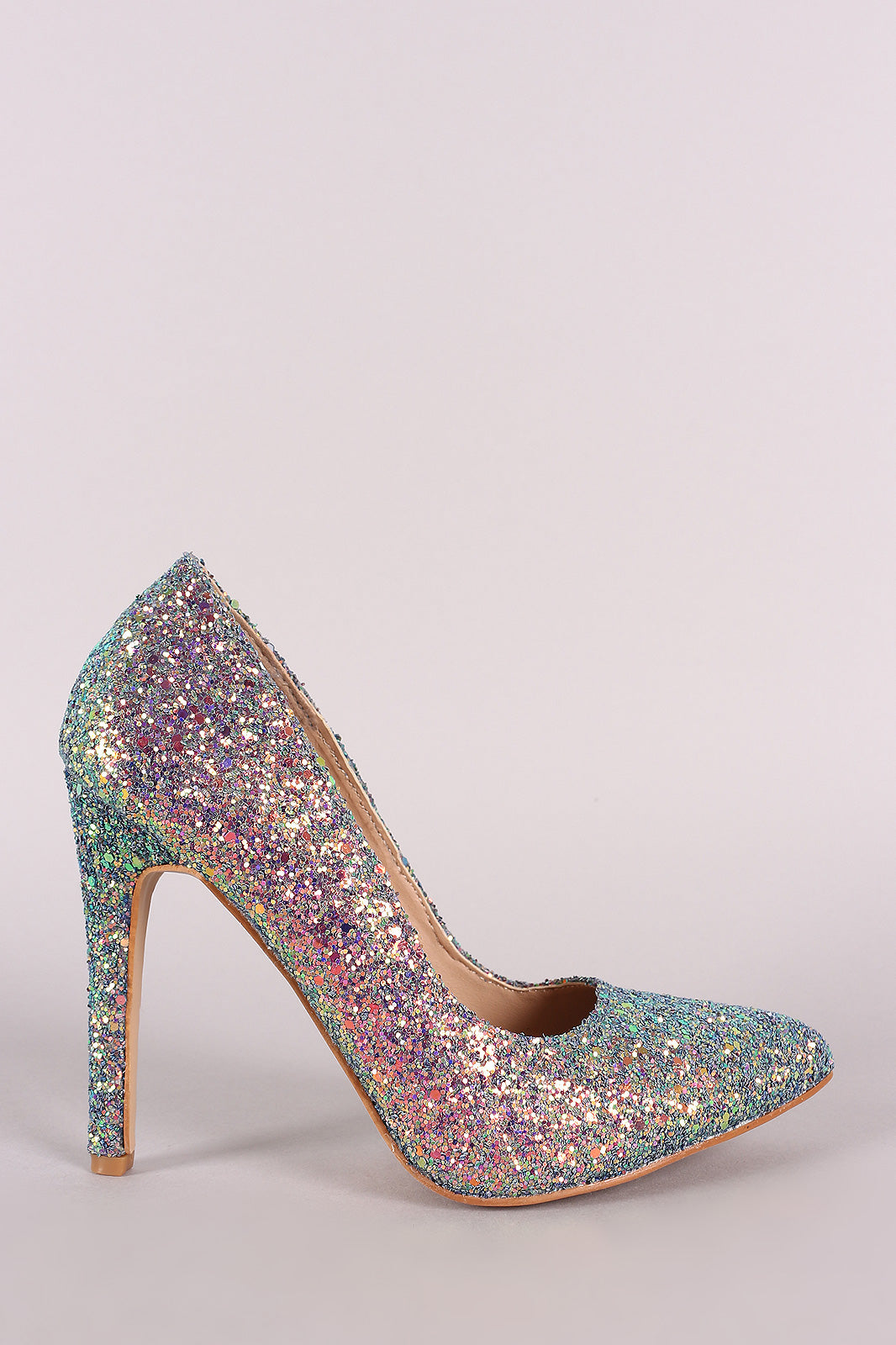 Glitter Encrusted Pointy Toe Pump