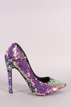 Metallic Sequin Pump