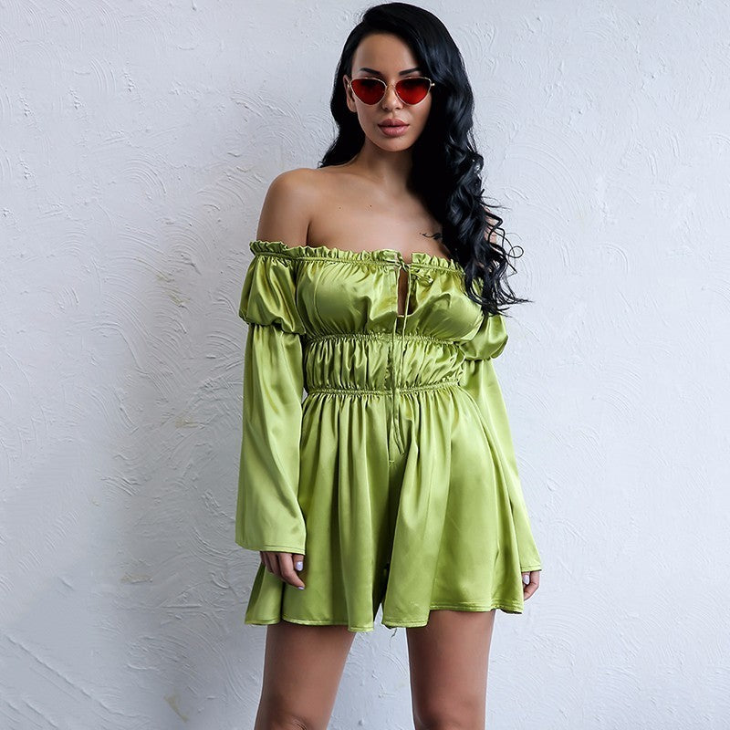 Solid Satin Playsuit