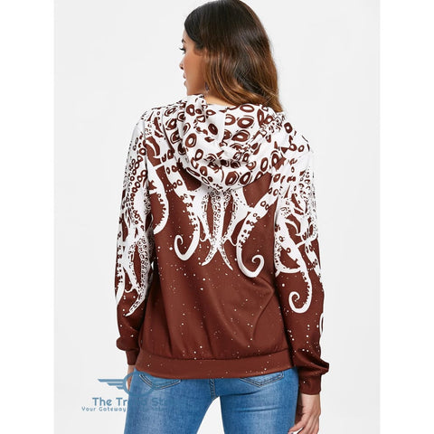 Image of 3D Octopus Kangaroo Pocket Hoodie