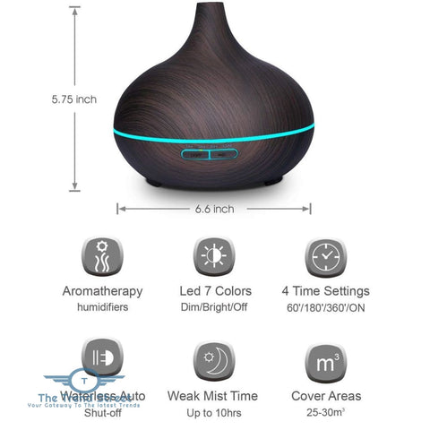 Image of 550ml Air Humidifier - Essential Oil Diffuser Aroma diffuser