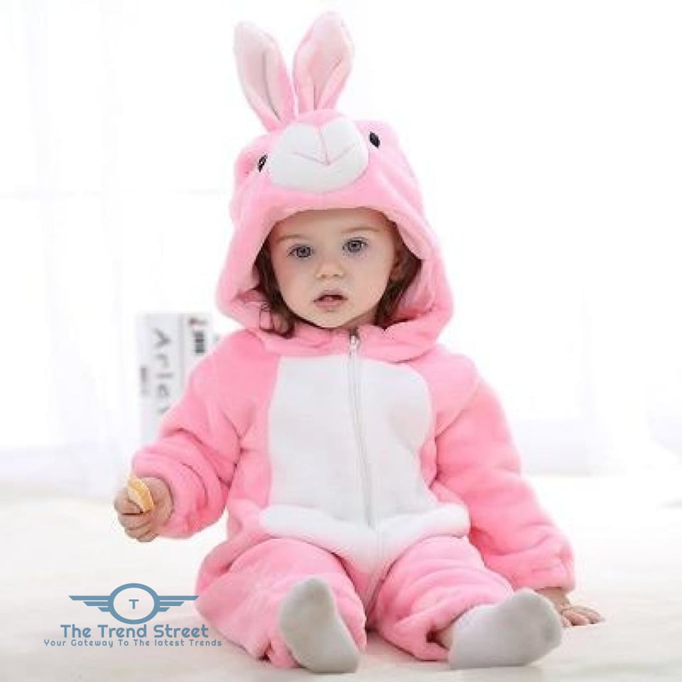 Adorable Baby Winter Romper Pink Rabbit / 3M Baby Romper