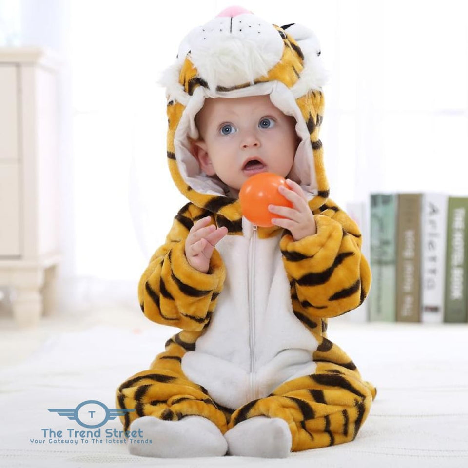 Adorable Baby Winter Romper Tiger / 3M Baby Romper