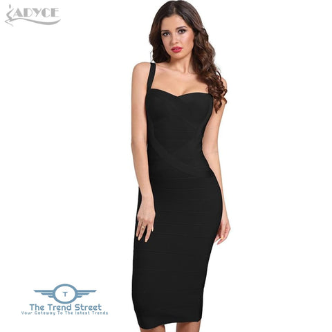 Image of Backless Bandage Bodycon Dress Black / L