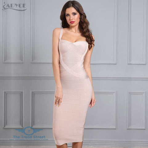 Image of Backless Bandage Bodycon Dress