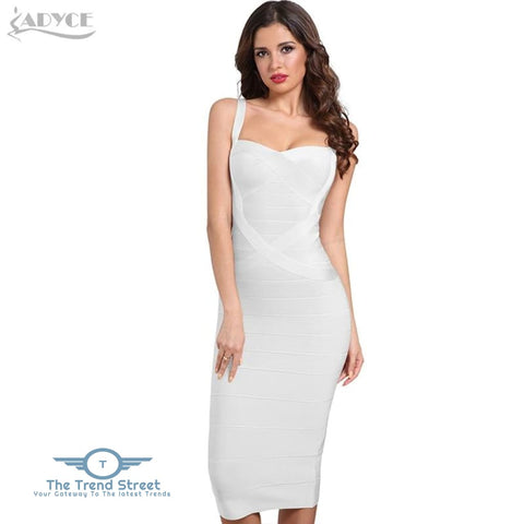 Image of Backless Bandage Bodycon Dress White / L