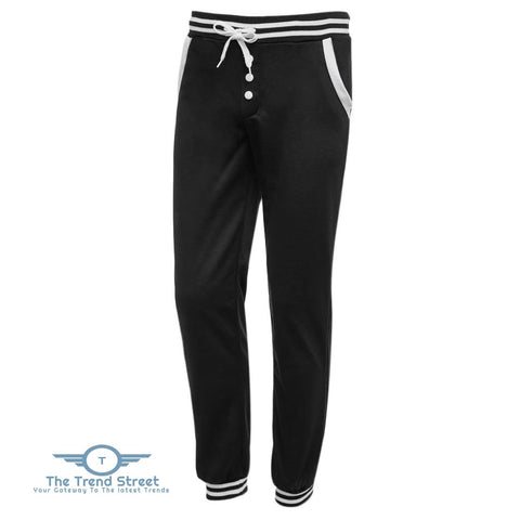 Casual Male Elastic Drawsting Button Design Loose Sports Pants