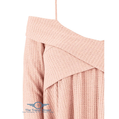 Image of Crisscross Open Shoulder Tunic Sweater sweater