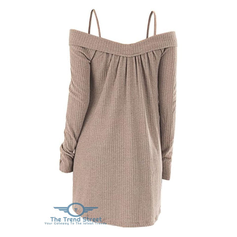 Crisscross Open Shoulder Tunic Sweater sweater